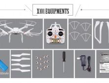 drone mjx x101 accesorios