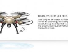 Drone Syma X8HC X8HW barómetro