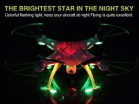 Drone Syma X5HW X5HC luces led