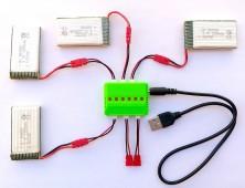 4 Baterías 1200 Syma X5HC X5HW + cargador