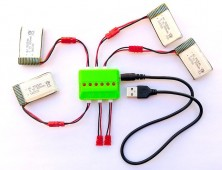 4 Baterías 800mah Syma X5HC X5HW + cargador