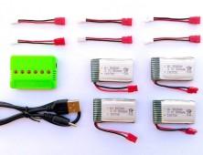 4 Baterías Syma X5HC X5HW + cargador