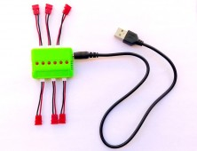 Cargador múltiple + Cables baterías Syma X5HC X5HW