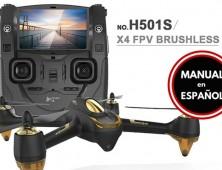 drone FPV Hubsan X4 H501S negro Manual Español