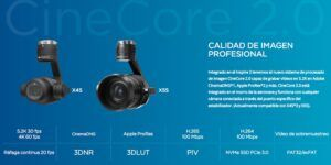 Drone DJI Inspire 2 camaras 4k y 5.2k