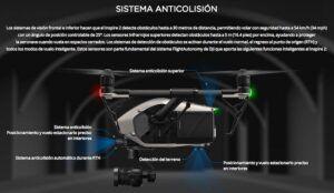 Drone DJI Inspire 2 sistema anticolisión