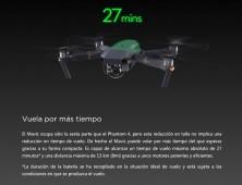 Drone DJI Mavic Pro tiempo vuelo 27 min