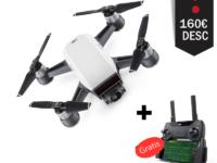 drone DJI Spark con 160 euros descuento y mando gratis