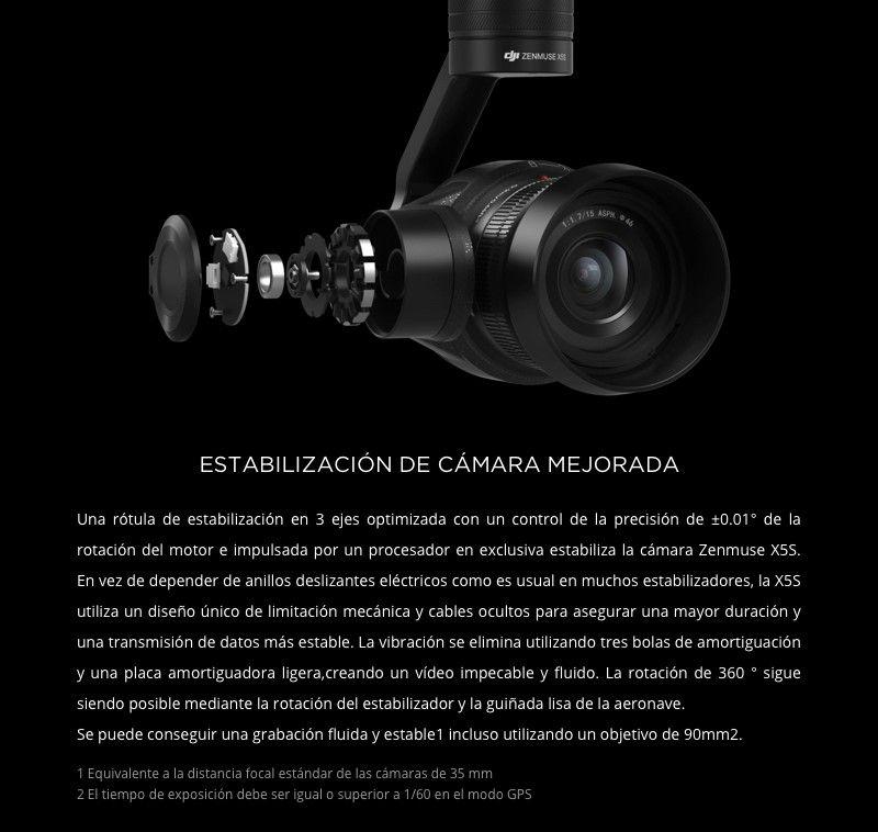Cámara DJI Zenmuse X5S -Estabilizacion camara