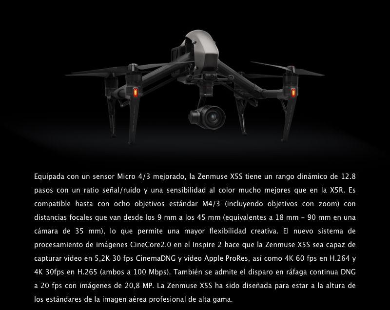 Cámara DJI Zenmuse X5S -Sensor