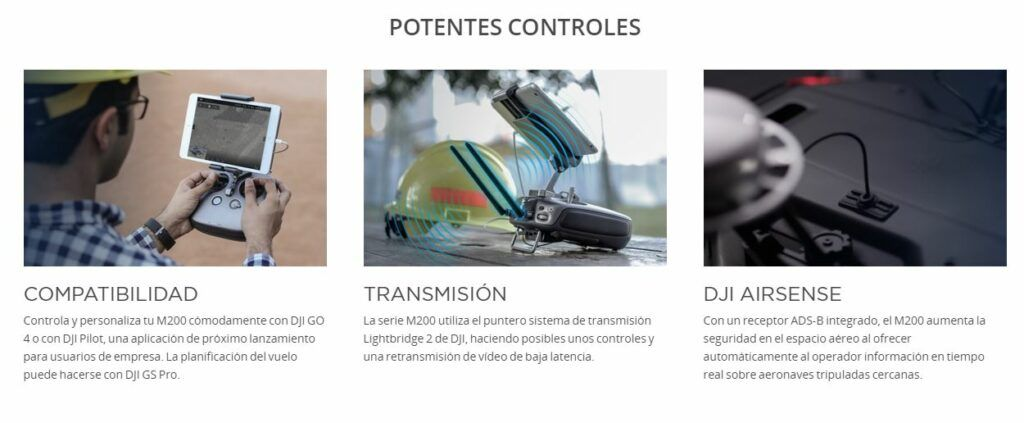 DJI Matrice 210 Potentes Controles