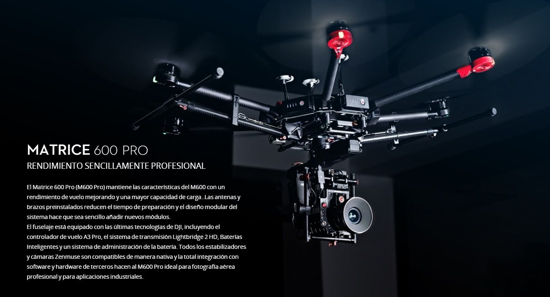 Drone DJI Matrice 600 Pro Rendimiento Profesional