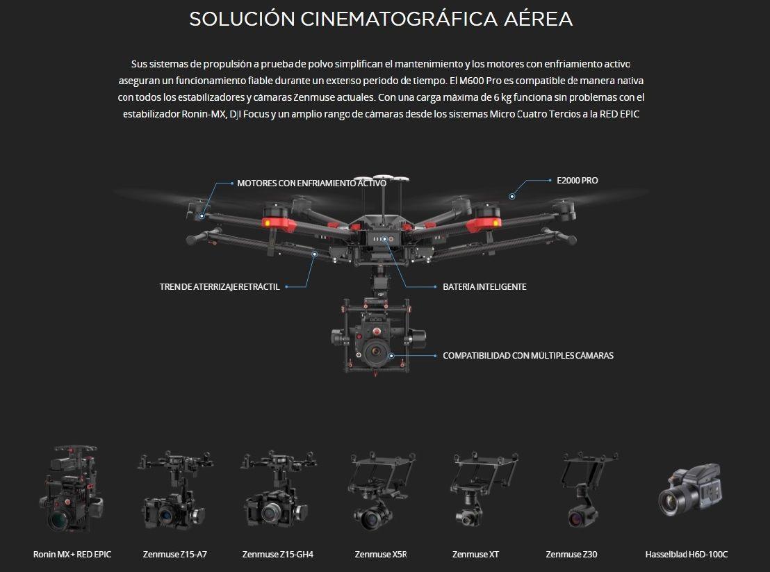 Drone DJI Matrice 600 Pro Solucion cinematografica aerea