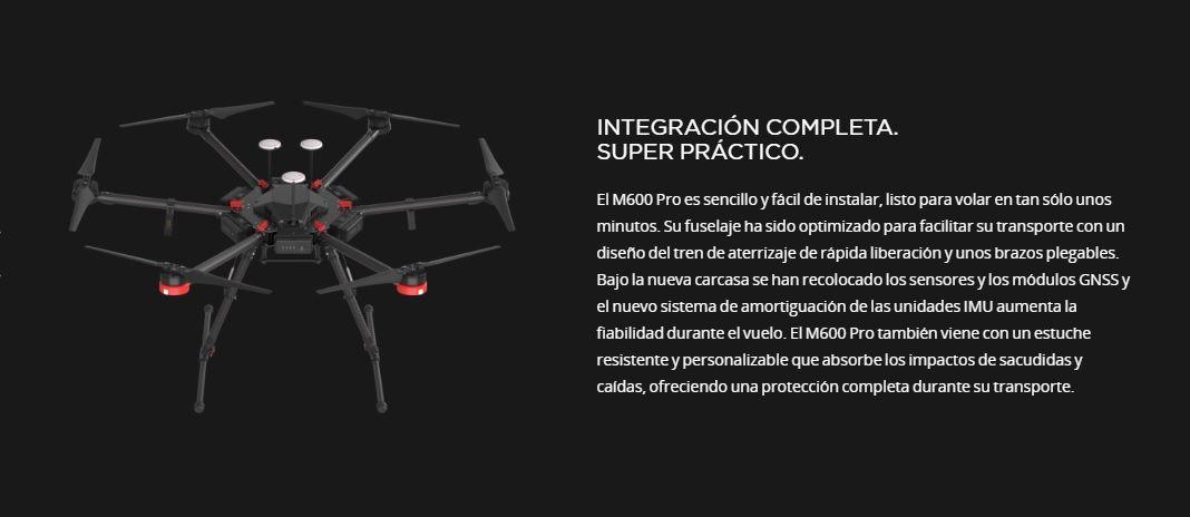 Drone DJI Matrice 600 Pro UAV listo para volar