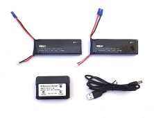 Pack 2 baterías Hubsan X4 H501 y cargador múltiple