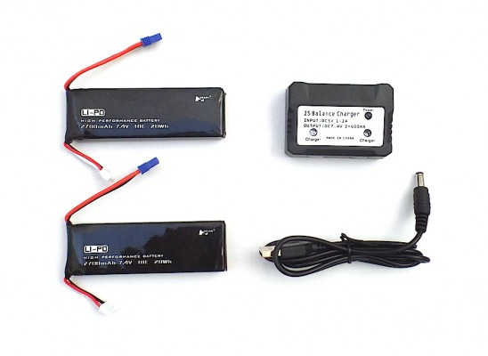 Pack 2 baterías Hubsan X4 H501S y cargador