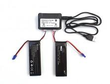 Pack 2 baterías Hubsan X4 H502S y cargador múltiple