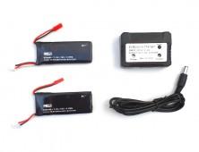 Pack 2 baterías Hubsan X4 H502s y cargador multiple