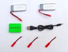 Pack 2 baterías JXD 510G 510W 509G 509W y cargador