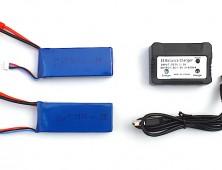 Pack 2 baterías Syma X8HC X8HW y cargador múltiple