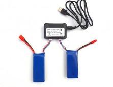 Pack 2 baterías Syma X8HW X8HC X8HG y cargador múltiple