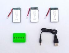 Pack 3 baterías 1200mah Syma X5SC X5SW y cargador
