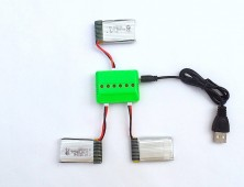 Pack 3 baterías Syma X5C Avenzo y cargador múltiple