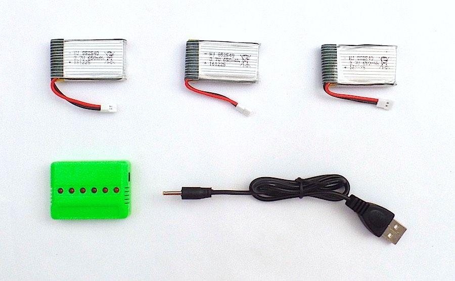 Pack 3 baterías Syma X5C Avenzo y cargador