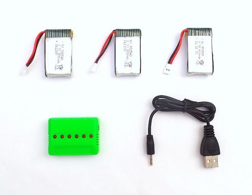 Pack 3 baterías Syma X5SC X5SW X53HW y cargador