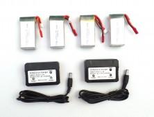 Pack 4 baterías MJX X101 X102H y cargador