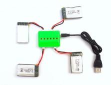 Pack 4 baterías Syma X5SC X5SW X53HW y cargador