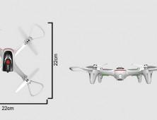 Dimensiones del UAV Syma X15