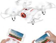 Drone Syma X21W FPV control del UAV desde el movil
