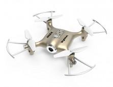 Drone Syma X21W FPV multicóptero dorado