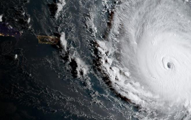 Huracan Irma desde satelite NOAA