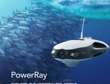Drone sumergible Powerray para pesca