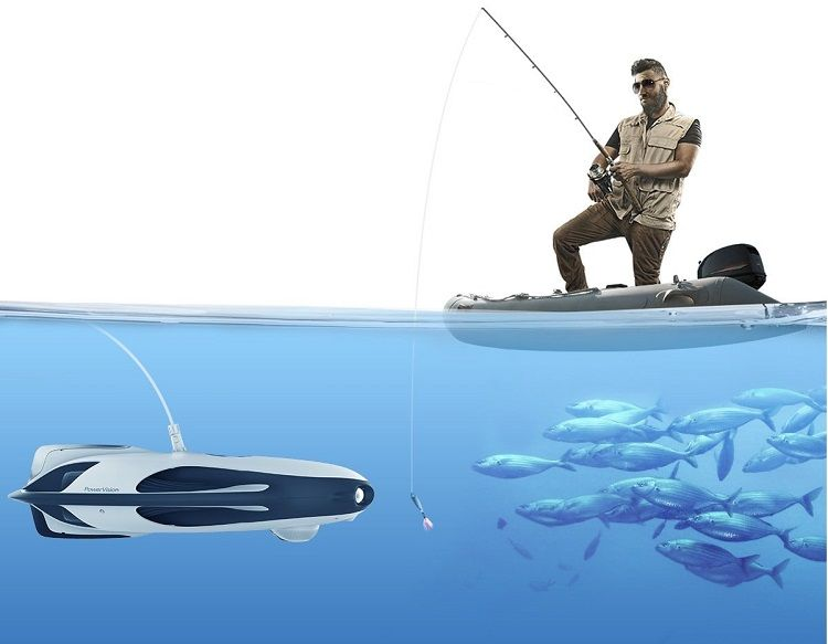 UAV submarino Power Ray para atraer peces