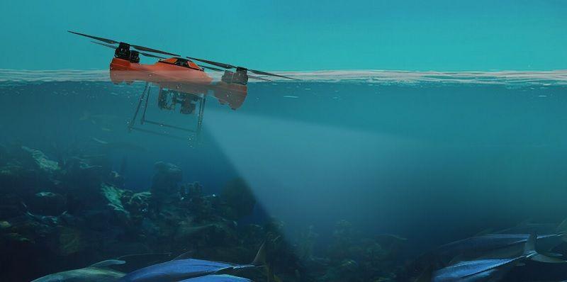 Splash Drone 3 FPV con camara sumergible