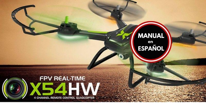 Drone FPV Syma X54HW Manual Español