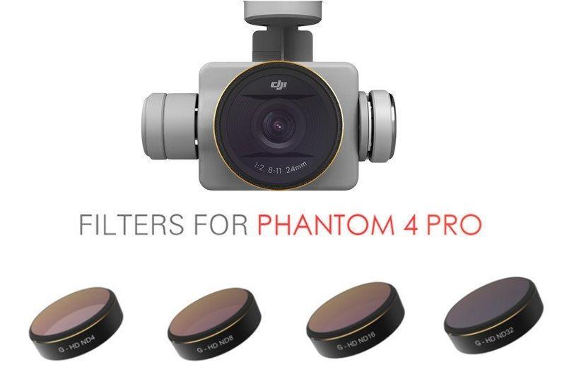 Set 4 filtros para camara drone DJI Phantom 4 Pro