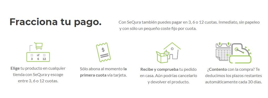Fraccionar compra dron con Sequra