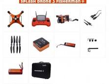 Splash Drone 3 version Fisherman Plus contenido del pack
