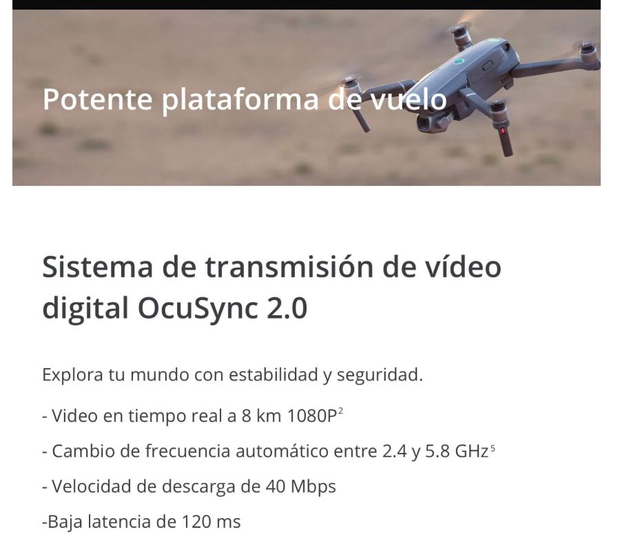 dron FPV DJI Mavic 2 potente plataforma de vuelo