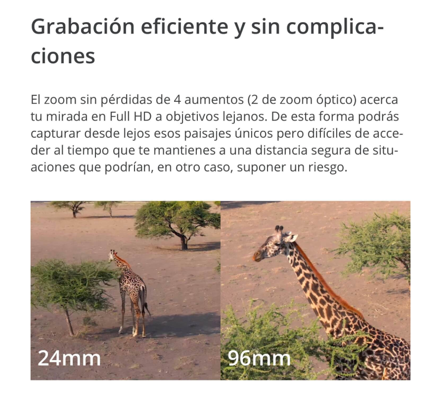 Dron DJI Mavic 2 Zoom grabacion eficiente