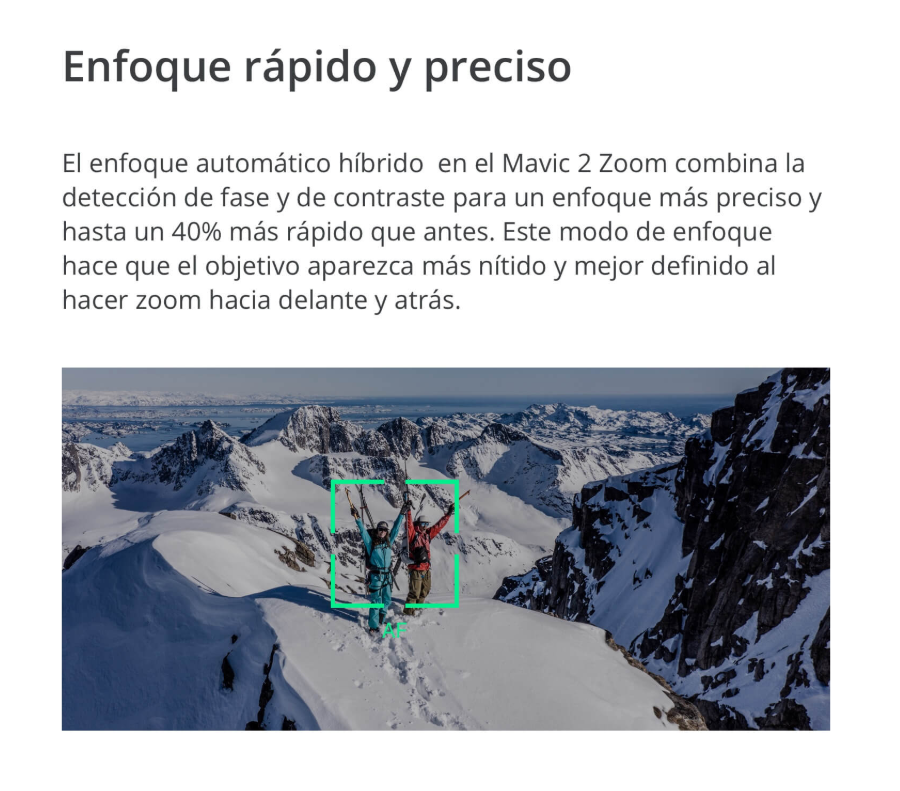 Multicoptero DJI Mavic 2 Zoom enfoque preciso