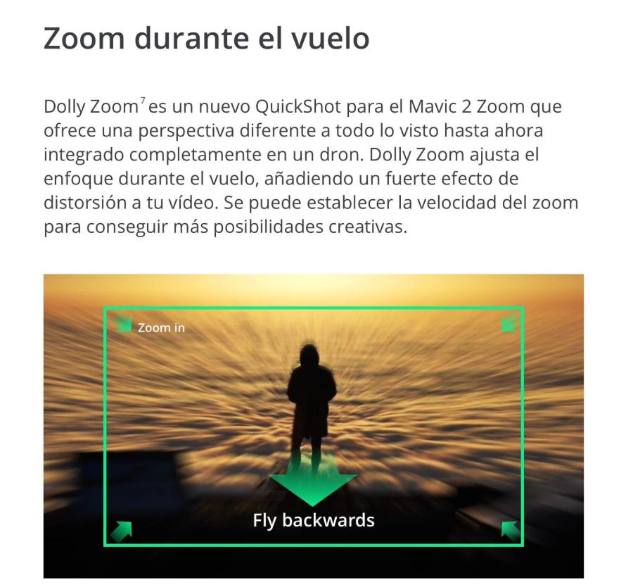 dron DJI Mavic 2 Zoom durante el vuelo
