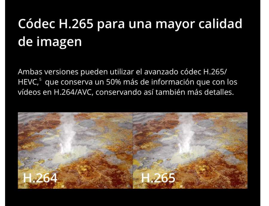 Nuevo dron DJI Mavic 2 con codec h265