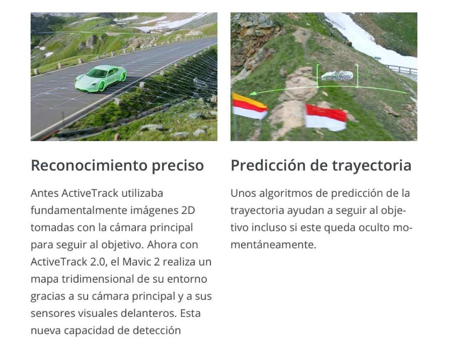 Nuevo multicoptero DJI Mavic 2 con active track 2