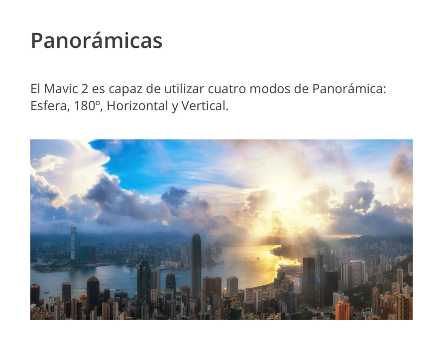 Nuevo dron DJI Mavic 2 tipos de panoramicas