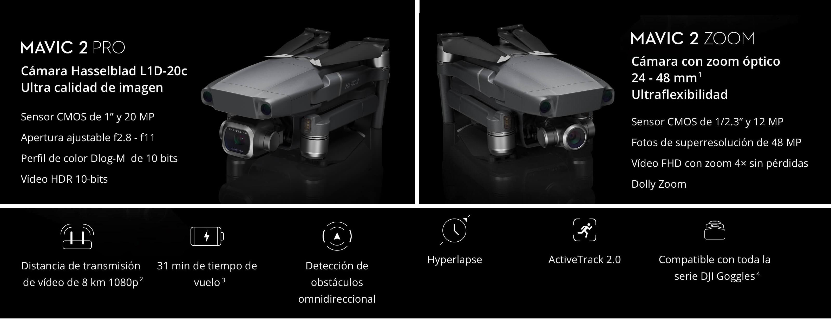 Drone DJI Mavic 2 Pro vs Zoom